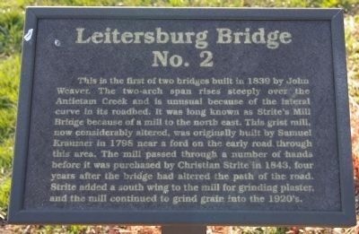 Leitersburg Bridge No. 2 Marker image. Click for full size.