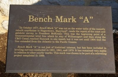 "Bench Mark ""A"" Marker image. Click for full size."