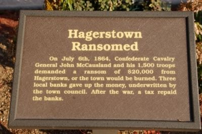 Hagerstown Ransomed Marker image. Click for full size.