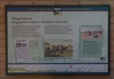 Hagerstown: Bringing Farm Products to Maryland's Great Valley Marker image. Click for full size.