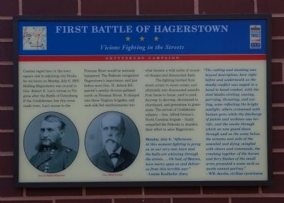 First Battle of Hagerstown Marker image. Click for full size.