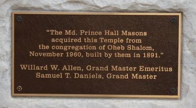 The Md. Prince Hall Masons Marker image. Click for full size.