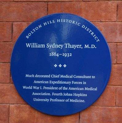 William Sydney Thayer, M.D. Marker image. Click for full size.