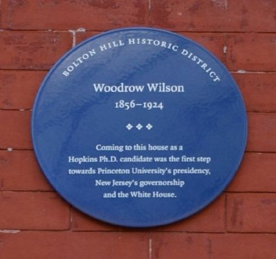 Woodrow Wilson Marker image. Click for full size.