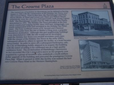 The Crowne Plaza Marker image. Click for full size.