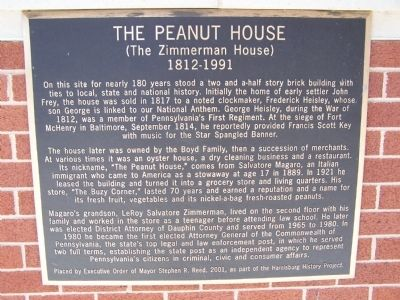 The Peanut House Marker image. Click for full size.