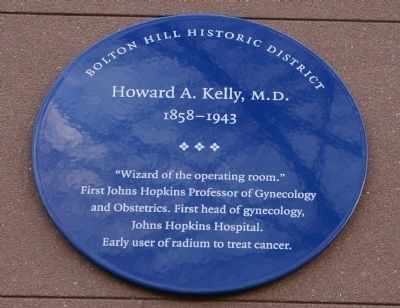 Howard A. Kelly, M.D. Marker image. Click for full size.