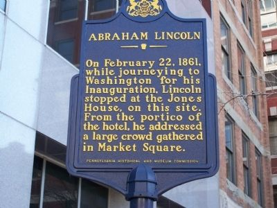 Abraham Lincoln Marker image. Click for full size.