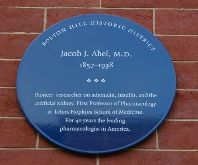 Jacob J. Abel, M.D. Marker image. Click for full size.