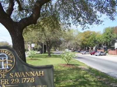 Road into Savannah from the spot of the Marker image. Click for full size.