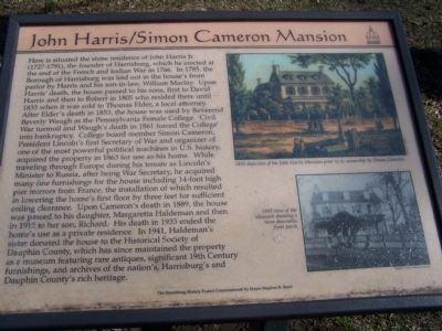 John Harris/Simon Cameron Mansion Marker image. Click for full size.
