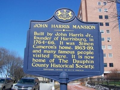 John Harris Mansion Marker image. Click for full size.
