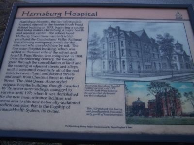 Harrisburg Hospital Marker image. Click for full size.