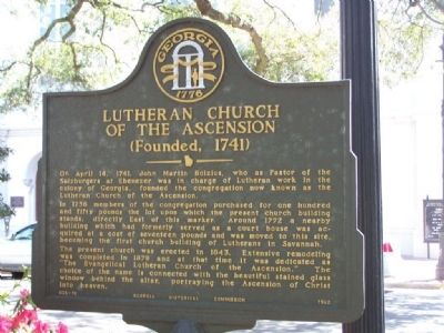 Lutheran Church Of The Ascension Marker image. Click for full size.