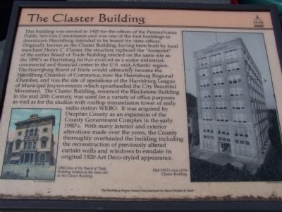 The Claster Building Marker image. Click for full size.