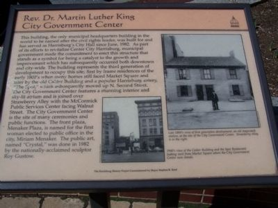 Rev. Dr. Martin Luther King City Government Center Marker image. Click for full size.