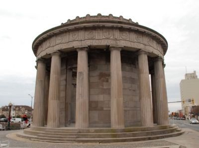 Exterior of Greek Temple Monument image. Click for full size.