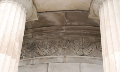 Detail of stone carving inside columns image. Click for full size.