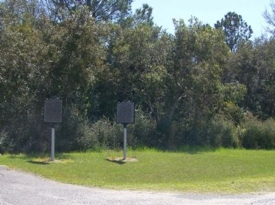 Charles Cotesworth Pinckney Marker, with the Pinckney Island Marker image. Click for full size.