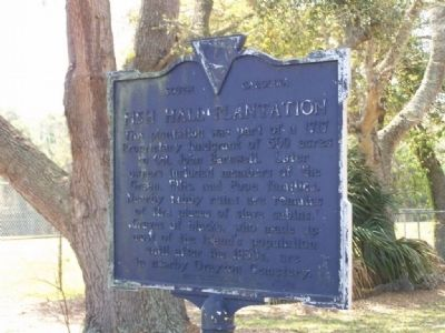 Fish Hall Plantation Marker image. Click for full size.