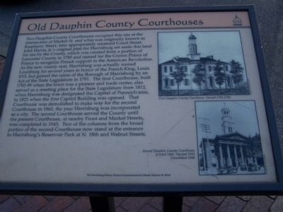 Old Dauphin County Courthouses Marker image. Click for full size.