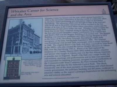 Whitaker Center for Science and the Arts Marker image. Click for full size.