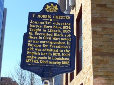 T. Morris Chester Marker image. Click for full size.