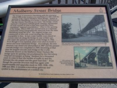 Mulberry Street Bridge Marker image. Click for full size.