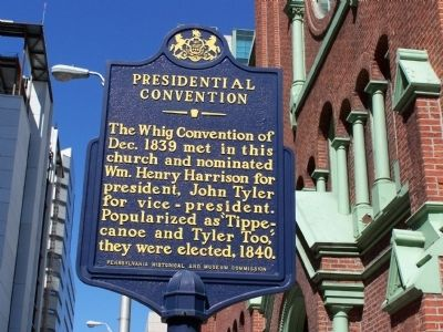 Presidential Convention Marker image. Click for full size.