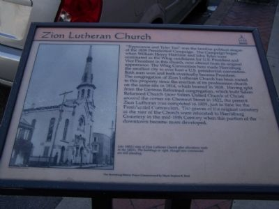 Zion Lutheran Church Marker image. Click for full size.