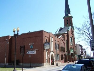 Zion Lutheran Church - site of the convention. image. Click for full size.
