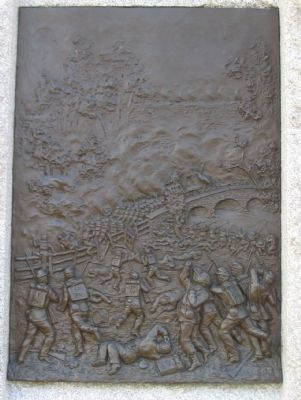 Close up of the Relief on the Back of the Monument image. Click for full size.