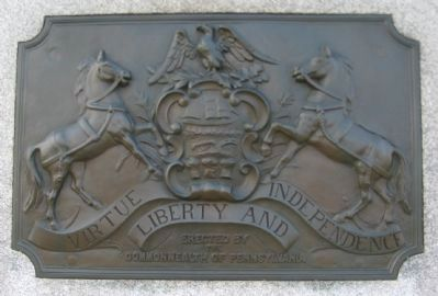 State Seal on the Back of the Monument image. Click for full size.