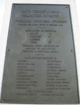 Inscription on the Front of the Monument image. Click for full size.