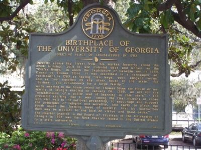 Birthplace of the University Of Georgia Marker image. Click for full size.