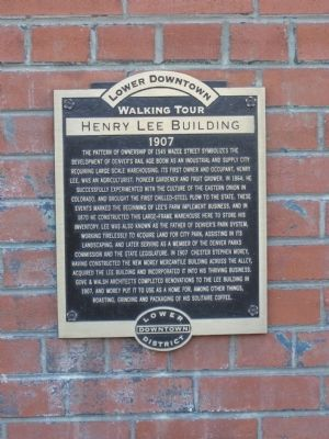 Lower Downtown Walking Tour - Henry Lee Building Marker image. Click for full size.