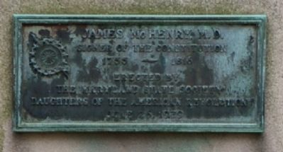James McHenry, M.D. Marker image. Click for full size.