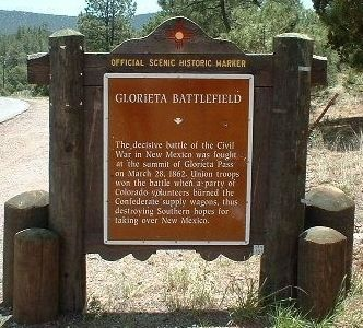 Glorietta Battlefield Marker image. Click for full size.