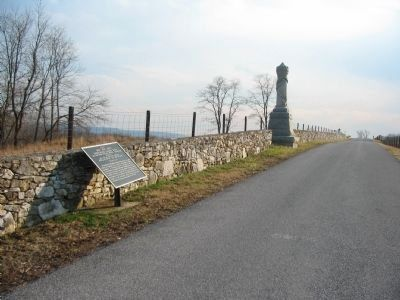 Ewing's Brigade Tablet and 30th Ohio Infantry Monument image. Click for full size.