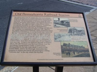 Old Pennsylvania Railroad Station Marker image. Click for full size.
