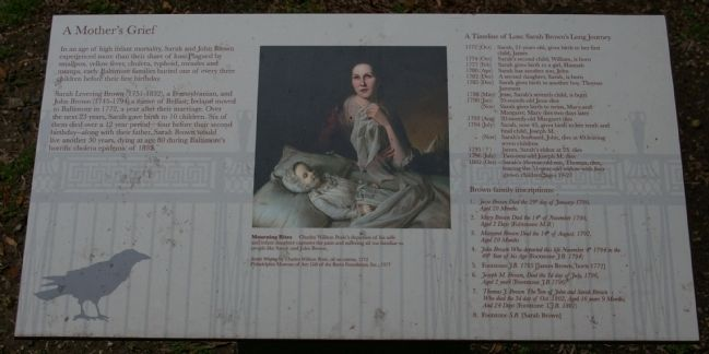 A Mother's Grief Marker image. Click for full size.