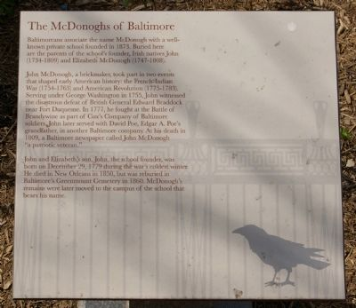 The McDonoghs of Baltimore Marker image. Click for full size.