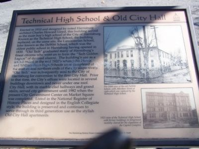 Technical High School & Old City Hall Marker image. Click for full size.