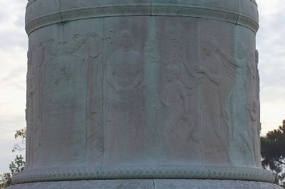 Detail On Base of Statue image. Click for full size.