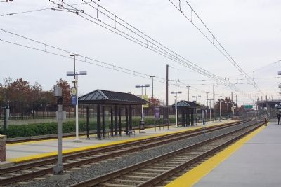 Light Rail Platforms at the Camden Yards Station image. Click for full size.