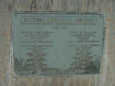 Kitzmillerville Bridge Builder's Plate image. Click for full size.