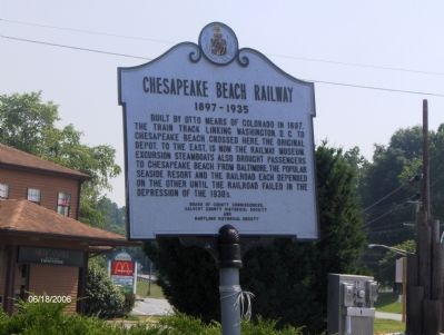 Chesapeake Beach Railway (1897-1935) Marker image. Click for full size.