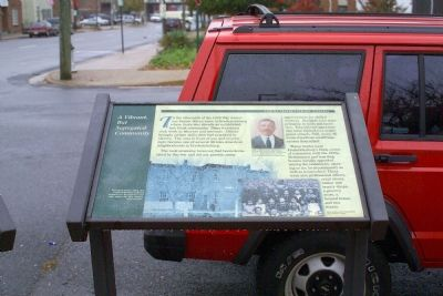 A Vibrant, But Segregated Community Marker image. Click for full size.