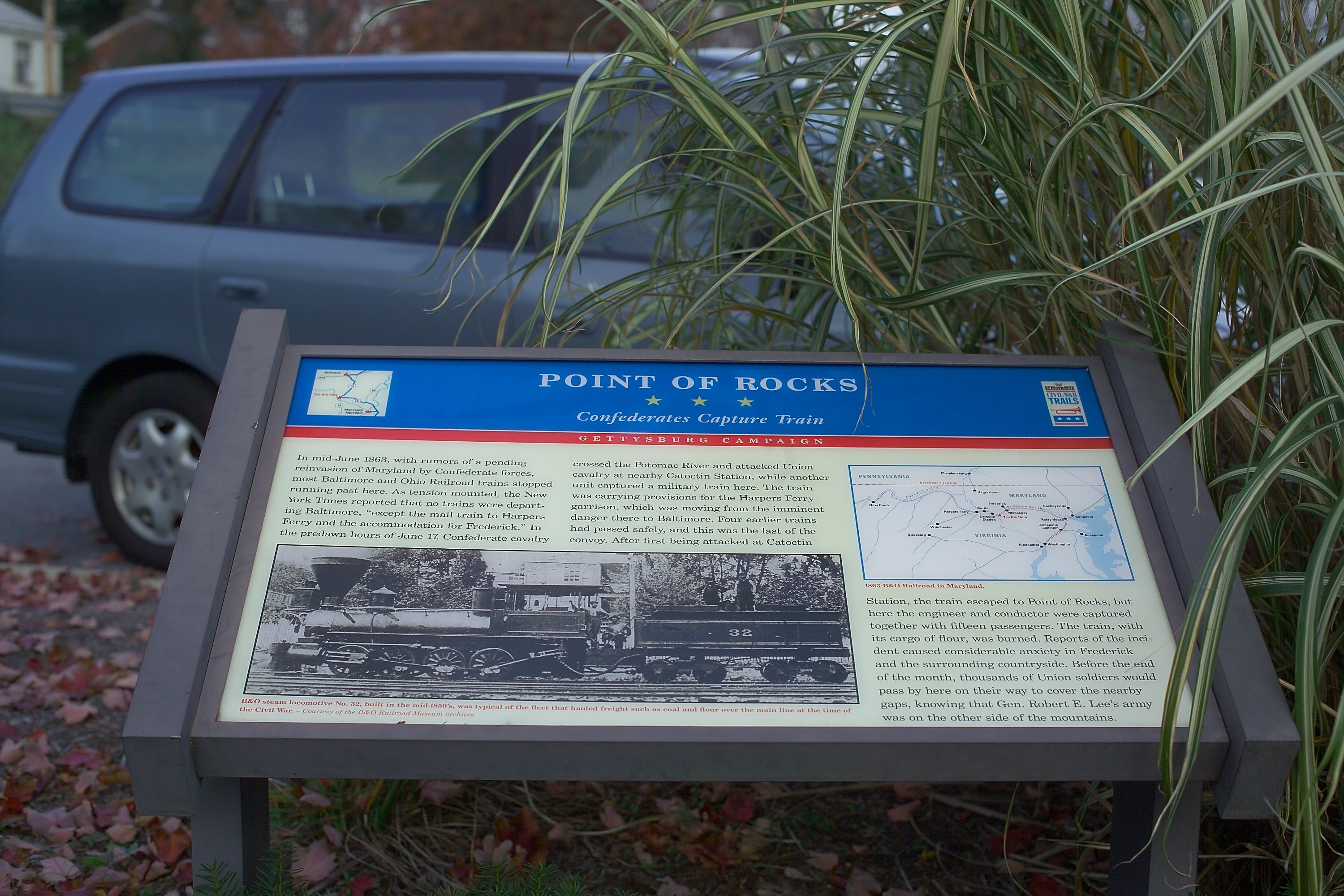 Point of Rocks<br>Confederates Capture Train Marker