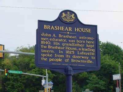 Brashear House Marker image. Click for full size.